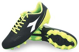 Diadora 750 IV MG14 Black Yellow Mens Soccer Cleats