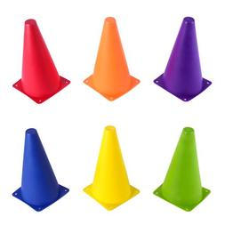 "Set of 6 - 9"" Sport Cones in Vivid Colored Vinyl by Crown Sp"