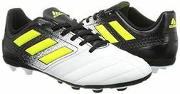 Adidas Ace 17.4 FXG JR Youth Boys Junior Soccer Cleats, Whit