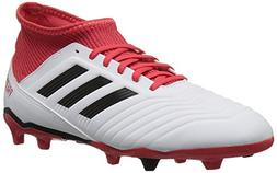 adidas Unisex ACE 18.3 FG J, White/core Black/Real Coral, 5