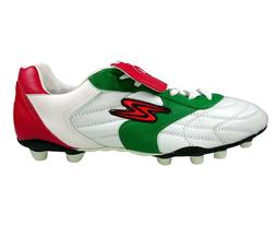 Arza Soccer Cleats Tricolor Adult Red/White/Green Leather Fi