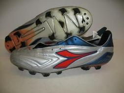 Diadora Attiva Plus RTX 12 Leather Soccer Shoes Cleats Silve