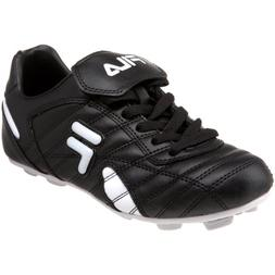 Fila Little Kid/Big Kid Forza RB Soccer Cleat, Black/White,