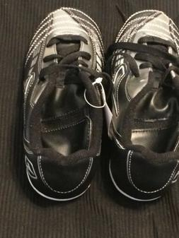 Diadora Black/Silver Youth/Kids Soccer Cleats Size 3 NWT