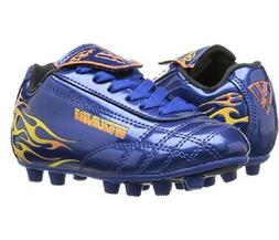Vizari Blaze Soccer Cleat - Blue/Orange - 2 M US Little Kid