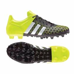 Adidas Boys Ace 15.3 FG/AG Soccer Cleats Size 3.5 Black/Whit
