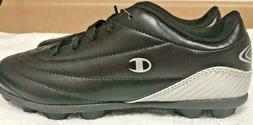 Champion Boys Soccer Cleats Size 3 Black Silver New without