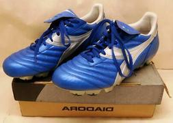 Diadora Brasil Elite RTX 12 Blue Leather Soccer Cleats Shoes