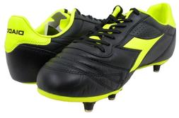 Diadora Brasil K - Plus SC Soccer Cleats Black/Yellow - Mens