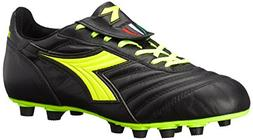 Diadora Men's Brasil S.P.A-M, Black/Yellow, 12.5 M US