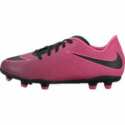 Nike Bravata II FG JR Kid's Soccer Cleats - Pink/Black Boys