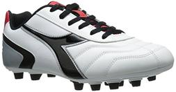 Diadora Men's Capitano LT MD Soccer Cleat, White/Black, 12.5