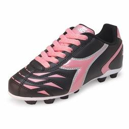 Diadora Capitano MD JR Soccer Cleat , Black/Pink, 8.5 M US T