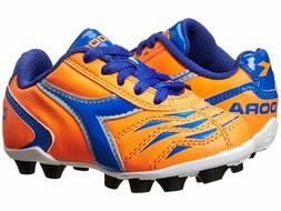 Diadora Capitano MD JR Soccer Shoe , Orange/Blue, 5.5 M US B