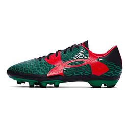 Under Armour Mens CF Force 2.0 FG Soccer Cleats, Black/Red/G