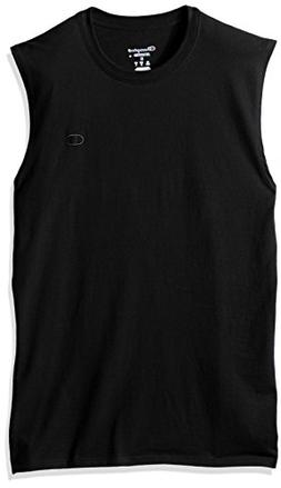 Champion Men's Classic Cotton Muscle Tee Black L