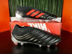 Adidas Copa 19+ FG Leather Mens Soccer Cleats Black Red F355
