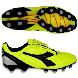 Diadora DD-Eleven LT MG14 Black Yellow Leather Upper Mens So
