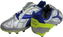 Diadora DD Eleven R MG 14 Soccer Cleat,Silver/Blue/White,9 M