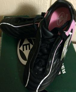 Easton girl's youth black/pink/white soccer magnetic cleats