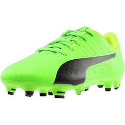 PUMA Kids' Evopower Vigor 4 FG Jr Soccer Cleat, Green/Yellow