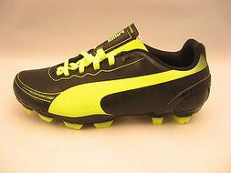 PUMA Evospeed 5.2 FG Soccer Cleat ,Black Fluorescent Yellow,