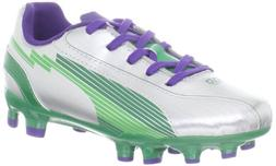 Puma Evospeed 5 FG JR Boot ,Silver/Team Green/Team VI,2 M US