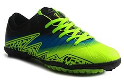 T&B Kids Football Shoes Indoor Turf Cleats Soccer Shoes Gree