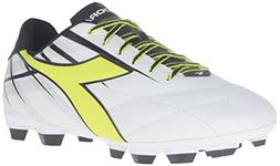 Diadora Men's Forte MD LPU Soccer Shoe, White/Yellow/Black,