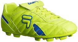 Fila Men's Forza III RB Soccer Shoe, Safety Yellow/Prince Bl