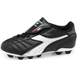 Diadora Men's Forza MD Soccer Cleat,Black/White/Silver,9 M U