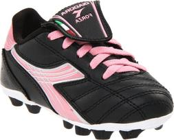 Diadora Forza MD Soccer Cleat ,Black/Pink,4.5 M US Big Kid
