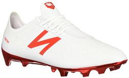 New Balance Men's Furon 4.0 Pro FG Soccer Shoe, White/Flame