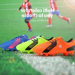 DREAM PAIRS Girls Boys Soccer Shoes Athletic Cleats Low Top