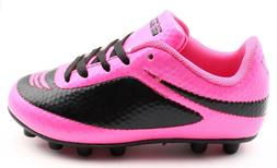 Vizari Infinity FG Pink and Black Soccer Cleats- Size 10C