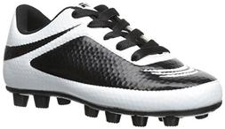 Vizari Infinity FG Soccer Cleat , White/Black, 2 M US Little