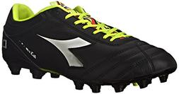 Diadora Men's Italica 3 K Pro Soccer Cleat, Black/White, 11.