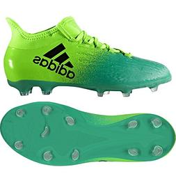 adidas JR X 16.1 FG Solar Green Soccer Cleats, Size 4.5