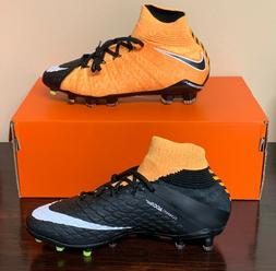 Nike Jr Hypervenom Phantom 3 DF FG Soccer Cleats Orange MSRP