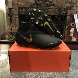 Nike Jr Phantom VSN Academy DF FG/MG Black Gold Cleats AO328