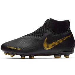 Nike JR Phantom VSN Academy DF FG/MG Black Gold Soccer Cleat
