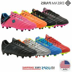 DREAM PAIRS Kids Girls Boys Soccer Shoes Outdoor Soccer Clea