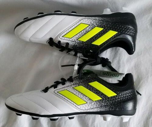 Adidas Ace 17.4 NEW Youth Black Yellow White Soccer Cleats Size