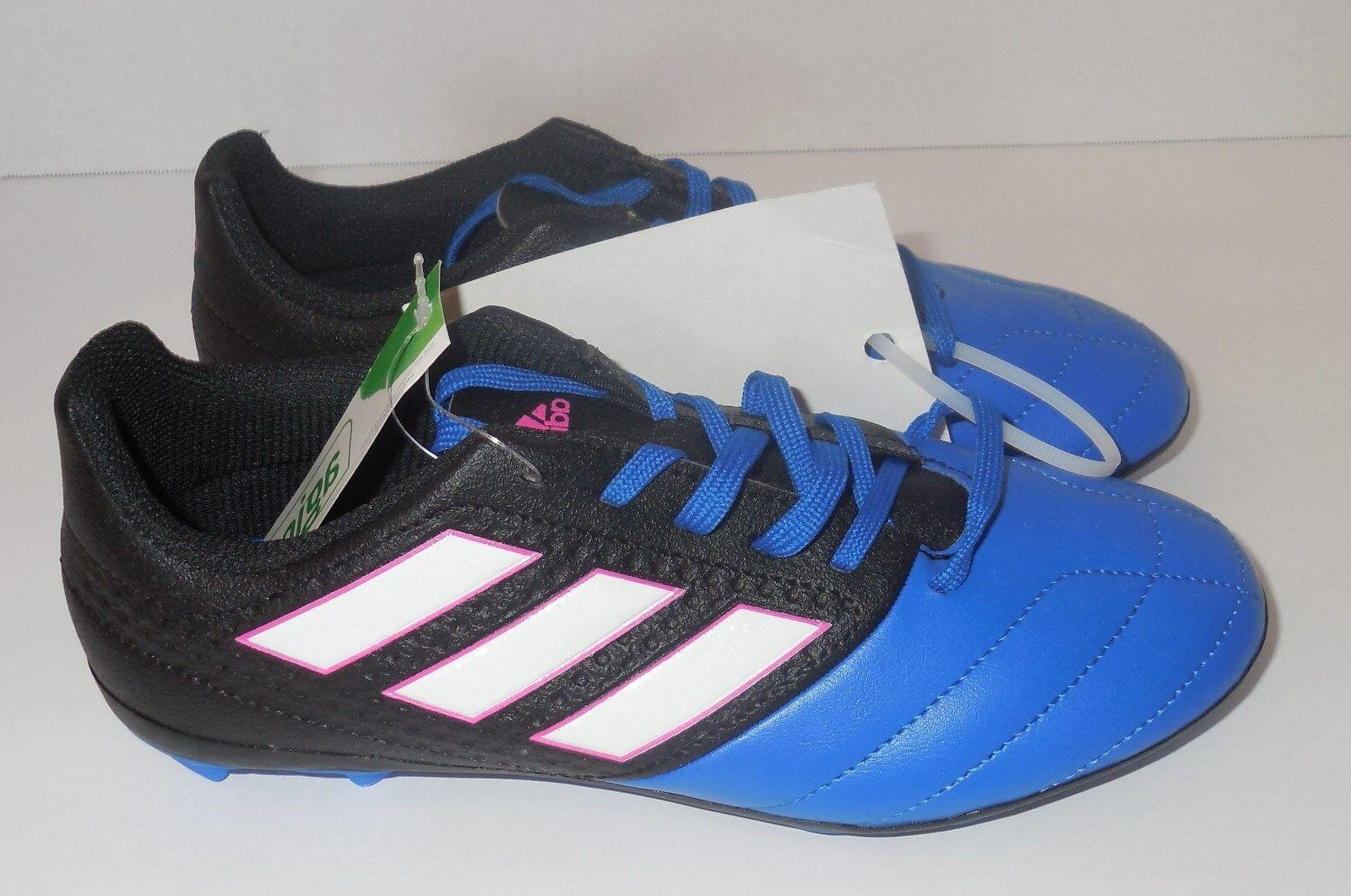 ADIDAS Junior Girls Size 3.5 Soccer Cleats Black Blue
