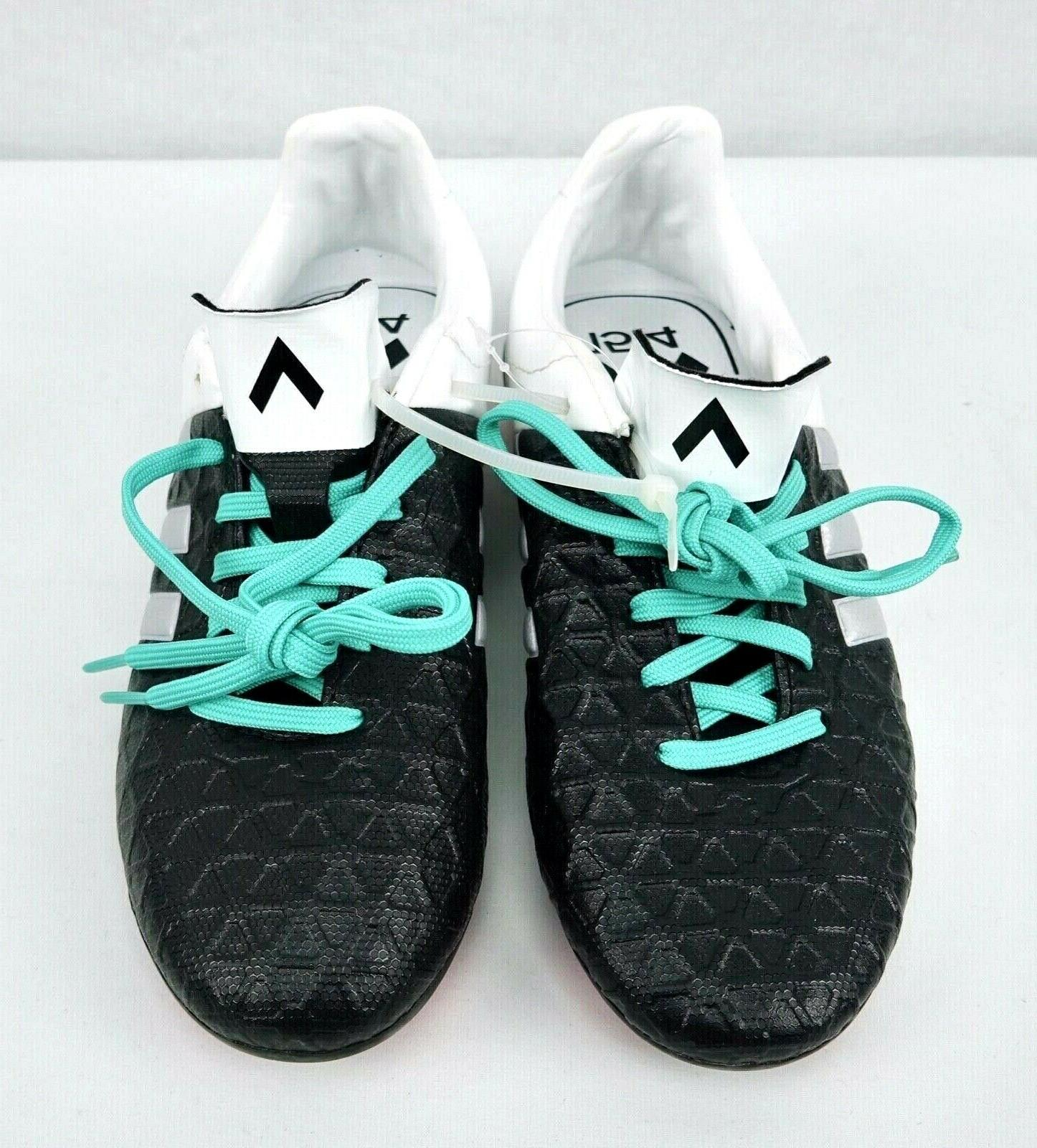 Boys Soccer Ace White Green Laces