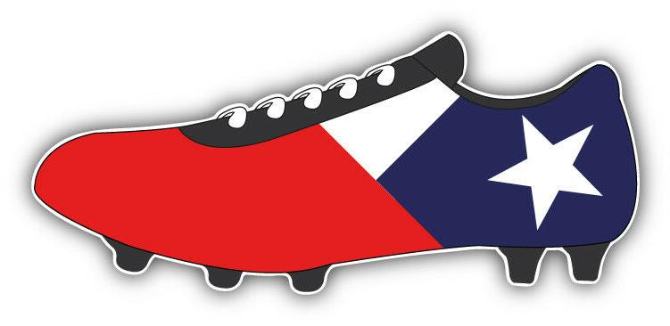 chile flag soccer cleats car bumper sticker