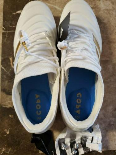 Adidas Copa SG Soccer White Leather Mens 10.5US