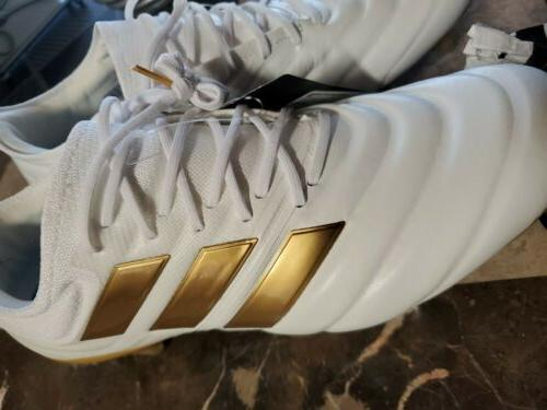 Adidas Soccer White gold Leather 10.5US