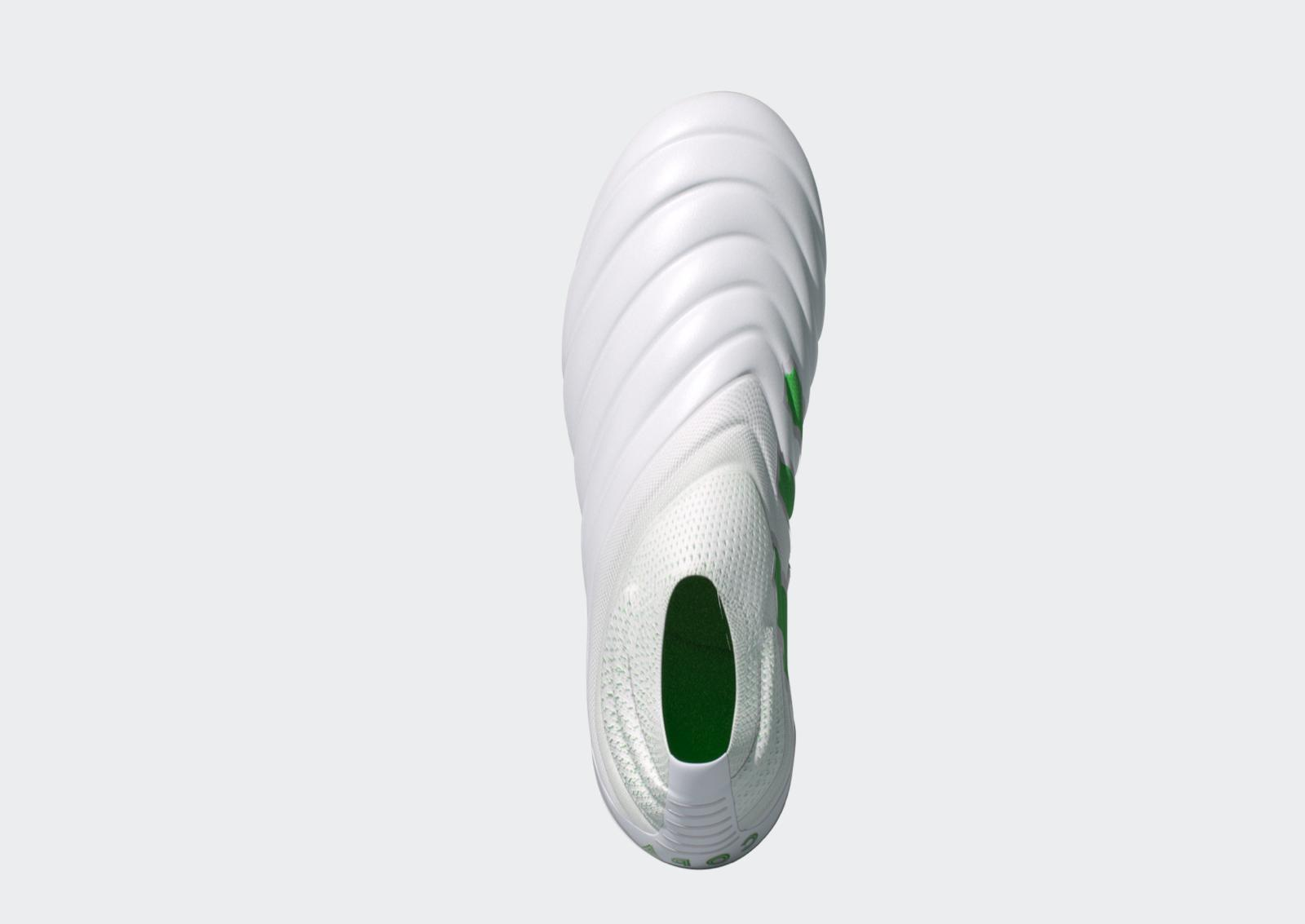 Adidas Mens Laceless White/Green MULTIPLE