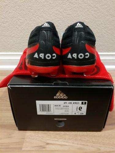 Adidas Copa 20+ firm soccer cleats, Red/white/Black